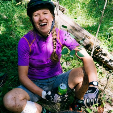 Sabina knows the healing powers of a Mexican Logger brew. Even after a crash and some allergic reactions she is all smiles. Beer helps. (Photo by Sarah Zoey Sturm)