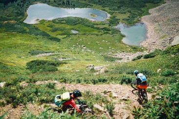 Tight switchback descending to Taylor Lake (Photo Sarah Zoey Sturm)